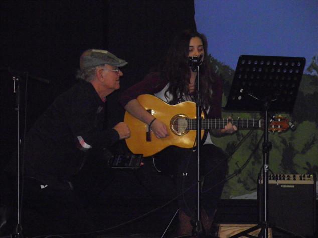 Danielle Gomes Sings a song with the help of Bruce VanderKleyn