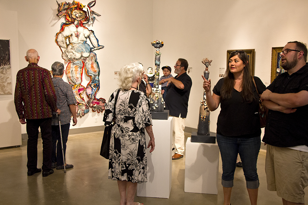 Gallery opening to the public