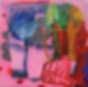 Trees Near Inverell -76x76cm-vinyl,polye