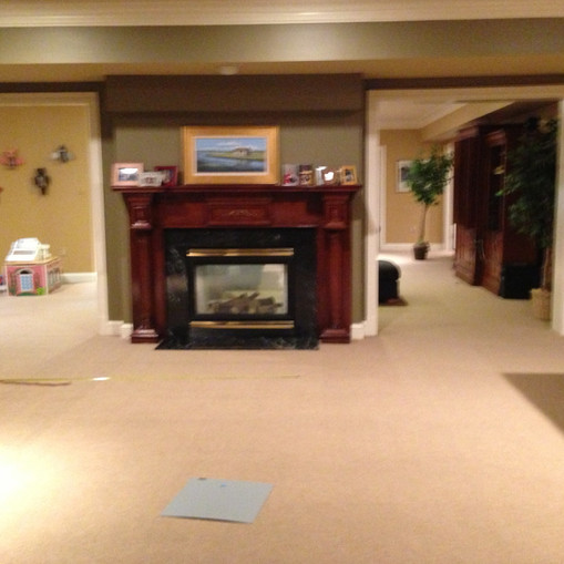 Before - Basement Video Gaming and Snack Bar Area