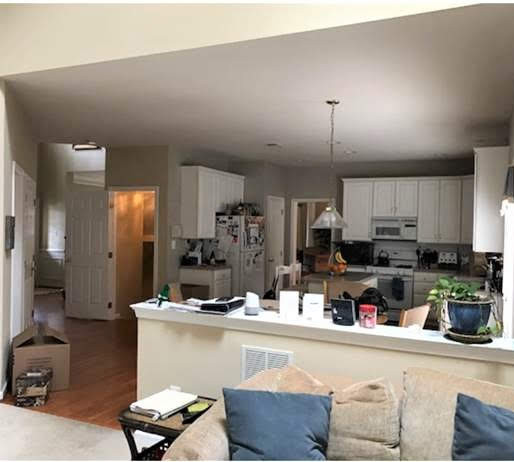 Before - Family Room and Kitchen