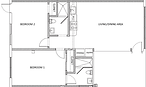 940 Michigan Ave - 2 Bedroom floorplan l
