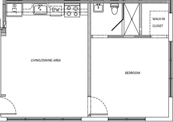 940 Michigan Ave - 1 Bedroom floorplan l
