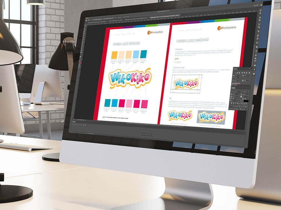Studio Werner Webdesign Grafikdesign Gestaltung Markenentwicklung Logogestaltung ZDF Enterprises Wikokiko Logoguide
