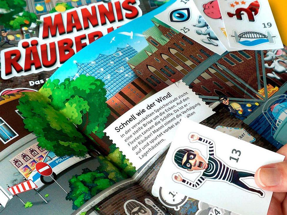 Studio Werner Webdesign Grafikdesign Gestaltung Werbung Konzeption German design award winner 2018 Haspa Mannis Räuberjagd Appdesign Spieleapp