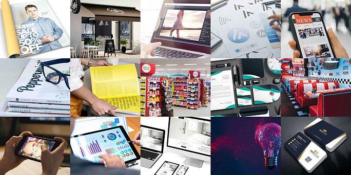 Webdesign, Grafikdesign, Außenwerbung, Plakate, Verpackungsdesign, Geschäftsausstattung, Logodesign, Anzeigen, Magazine, Editorialdesign