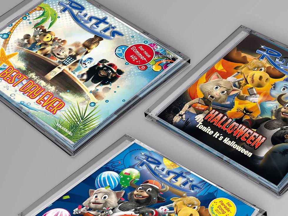 Studio Werner Webdesign Grafikdesign CD Rustis EUROPAPARK Gestaltung