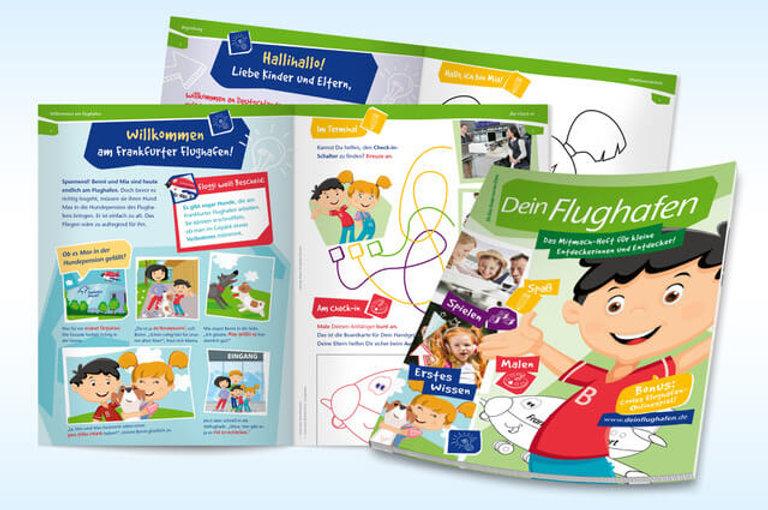 Studio Werner Webdesign Grafikdesign Gestaltung Magazingestaltung Fraport Kindermagazin Editorialdesign