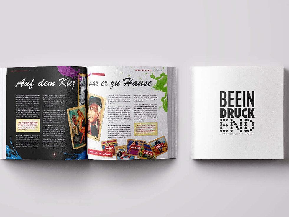 Studio Werner Webdesigner Grafikdesigner Gestaltung Druckerei Beisner Kundenmagazin Eitorialdesign Magazingestaltung