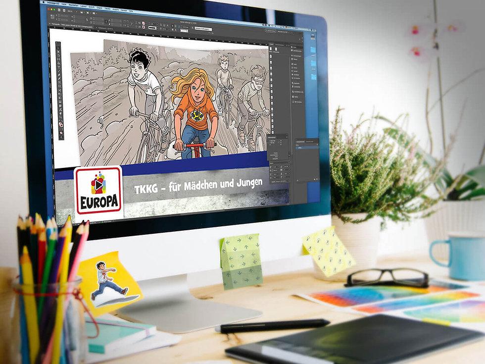 Studio Werner Webdesigner Grafikdesigner GestaltungTKKG Junior Serienentwicklung Verpackungsdesign Logodesign Website Styleguide