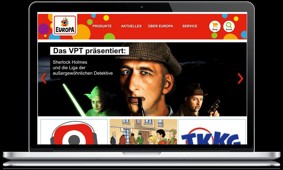 Studio Werner Webdesigner Grafikdesigner EUROPA Kinderwelt Websitegestaltung