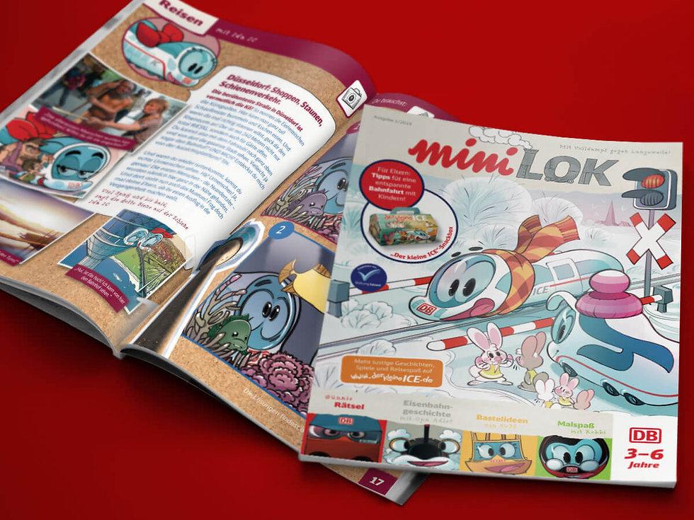 Studio Werner Webdesigner Grafikdesigner Magazindesign Magazinkonzeption Appdesign Der kleine ICE Website