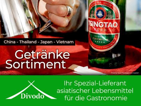 Ausgewählte asiatische Getränke-Spezialitäten