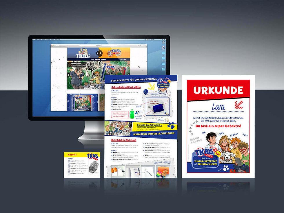 Studio Werner Webdesigner Grafikdesigner GestaltungTKKG Junior Serienentwicklung Verpackungsdesign Logodesign Website Styleguide Schulaktion Unterrichstmaterial