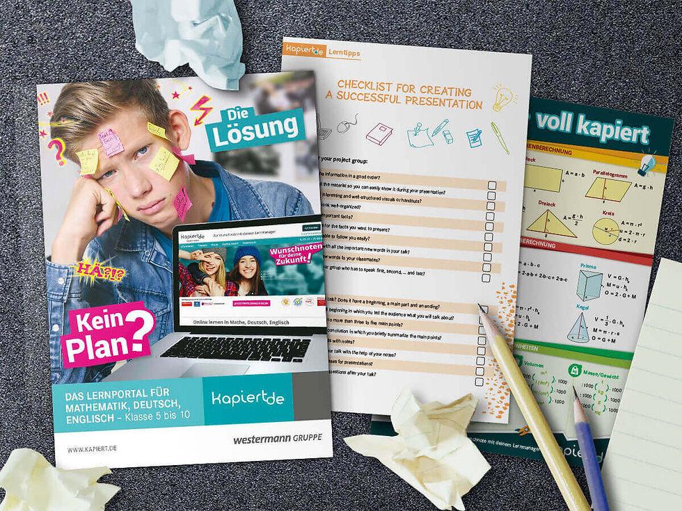 Studio Werner Webdesign Grafikdesign Gestaltung Website Styleguide Anzeigenkampagne Fotoshooting Bildungshaus Westermann Kapiert Unterrichtsmaterial Anzeigenkampagne