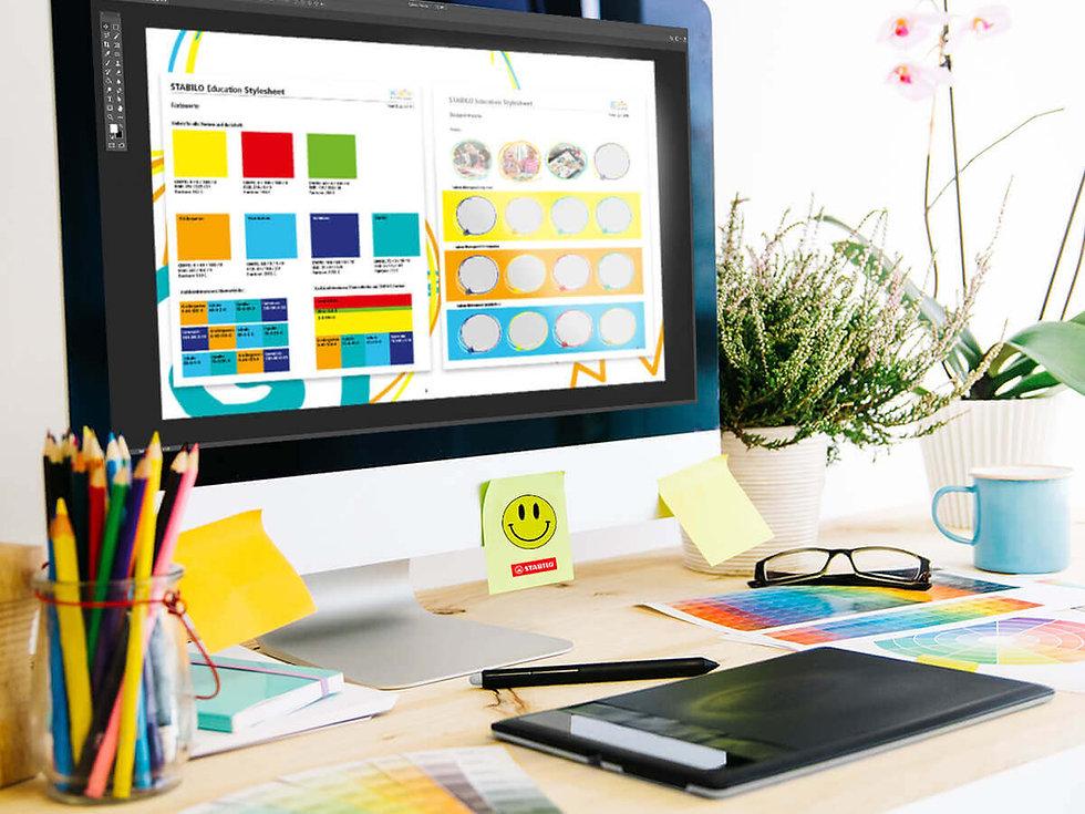 Studio Werner Webdesign Grafikdesign Gestaltung Stabilo Education Anzeigenkampagne Fotoshooting Styleguide