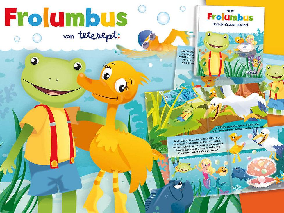 Studio Werner Webdesigner Grafikdesigner Gestaltung tetesept Frolumbus Miniheft Minibuch Comic Verpackungsgestaltung Packagingdesign POS Display Warenträger Prospekte