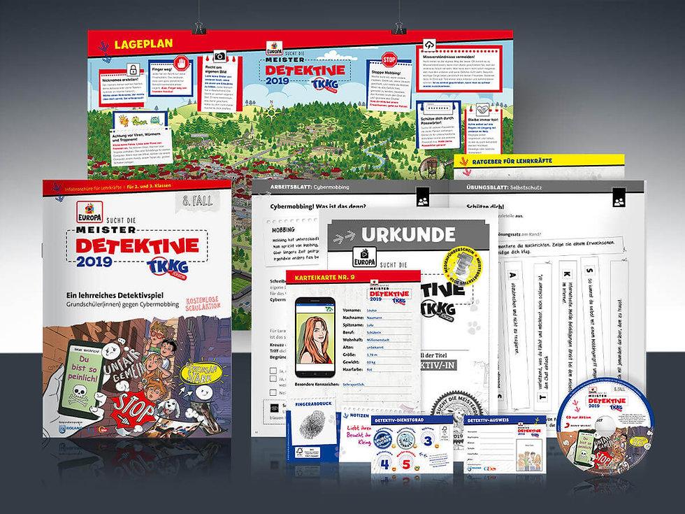 Studio Werner Webdesign Grafikdesign TKKG Meisterdetektive Schulaktion Unterrichtsmaterial Konzeption Gestaltung