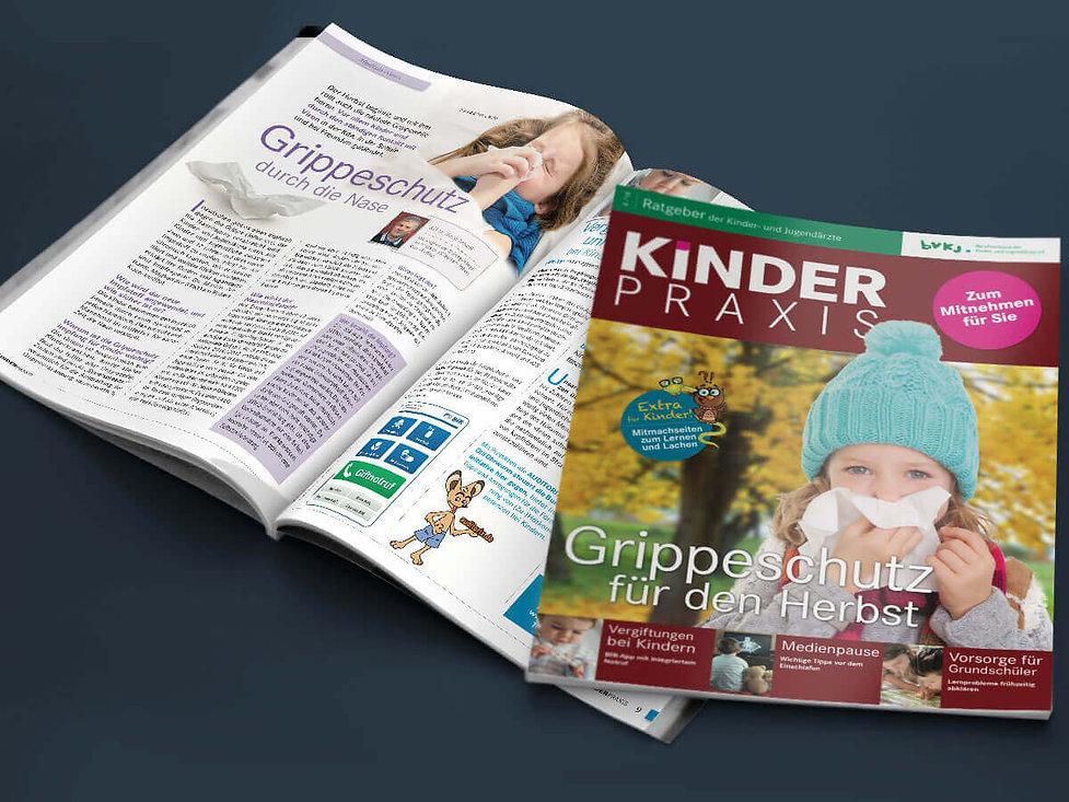 Studio Werner Webdesigner Grafikdesigner BVKJ Kinder Praxis Magazingestaltung Editorialdesign Logodesign