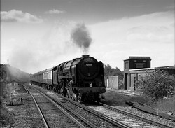70000 Britannia passing Salfords