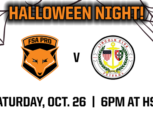 "FSA PRO ""Halloween Night"" Oct. 26"