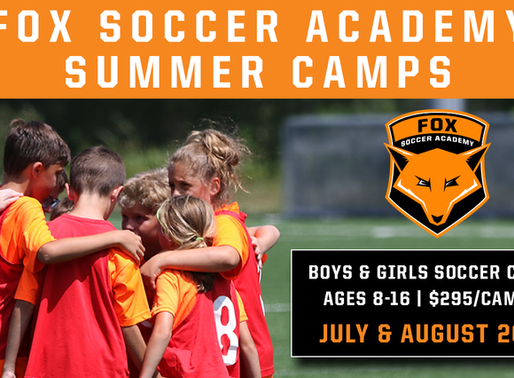 Fox Soccer Academy 2020 Summer Camps!