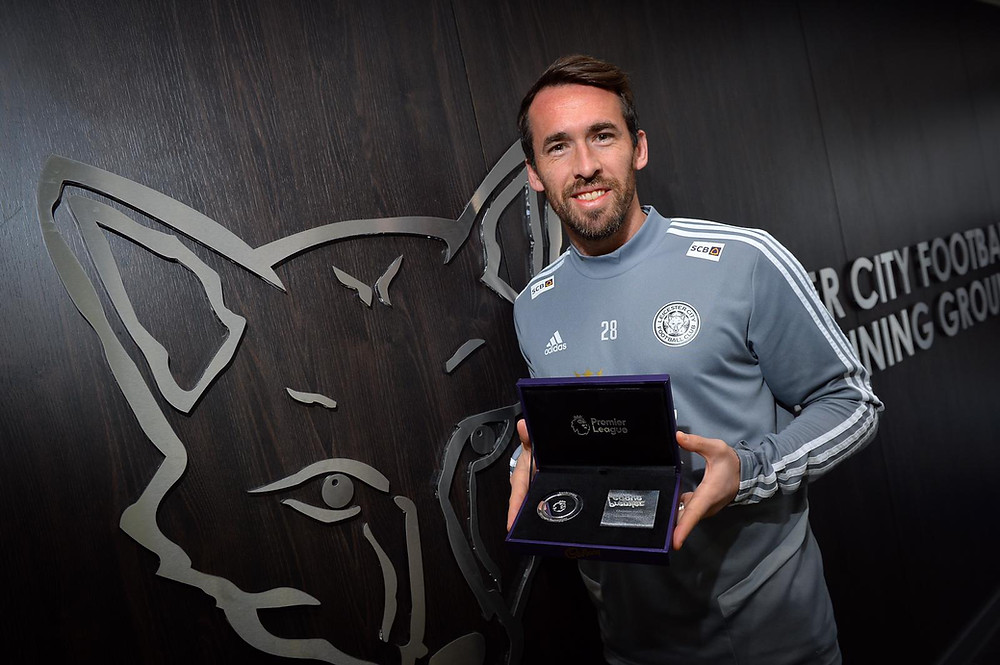 Christian Fuchs - 100th Appearance with Leicester City FC