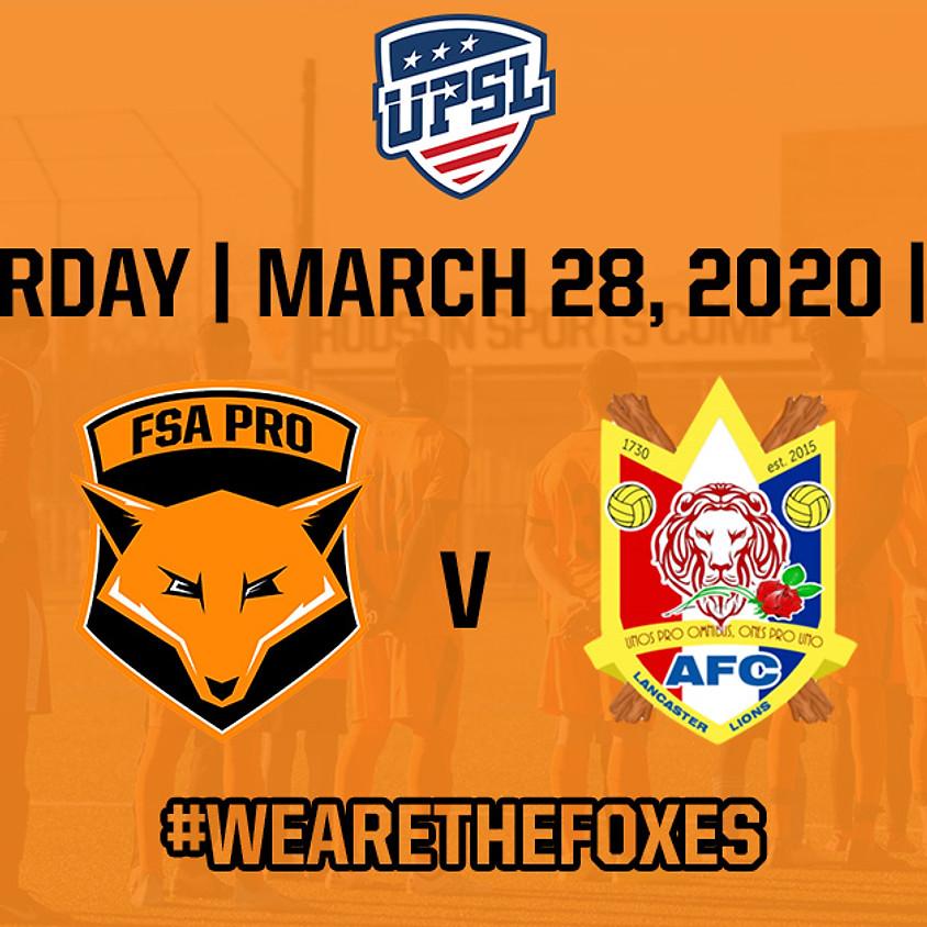FSA PRO v AFC Lancaster - Home Opener Match!