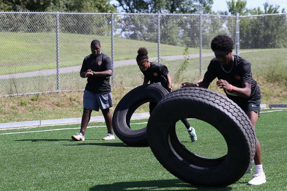 Tire Flip Drill - Hudson Sports Complex