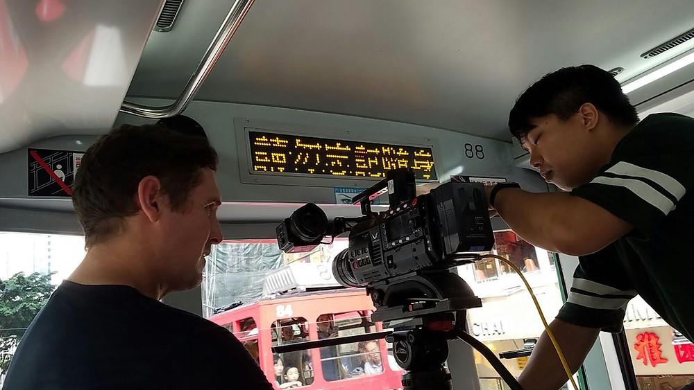 cameraman with 4k camera in hong kong