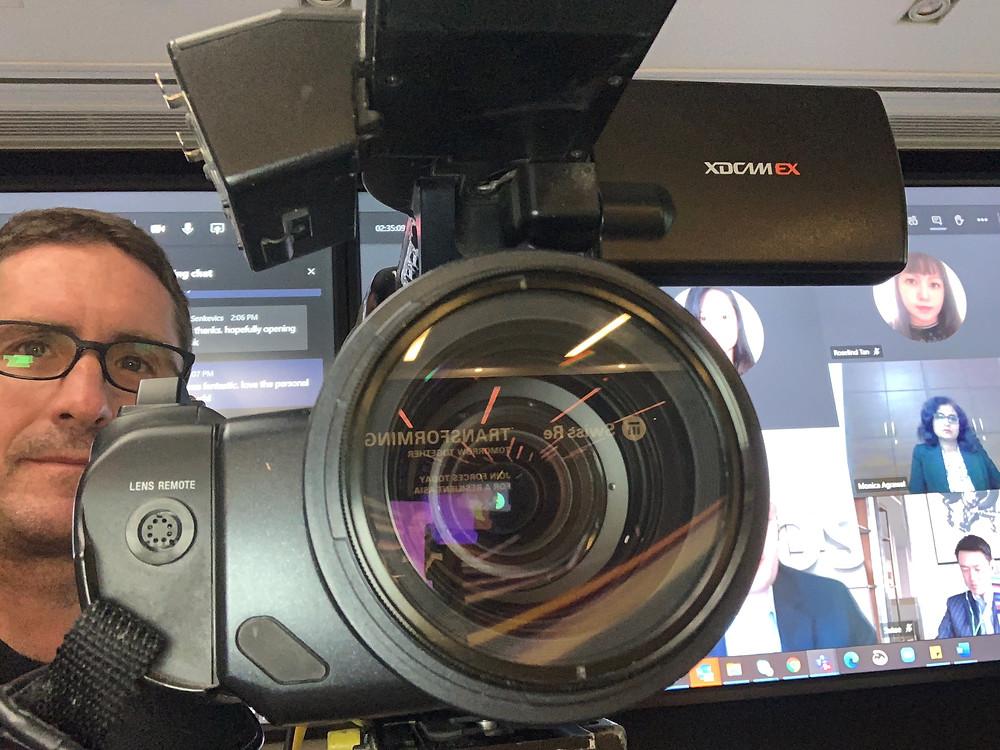 cameraman with camera crew in Hong Kong