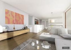 Wohnzimmer Attika
