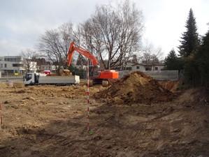 Baustart Mehrfamilienhaus am Rappenbodenweg, Bottmingen