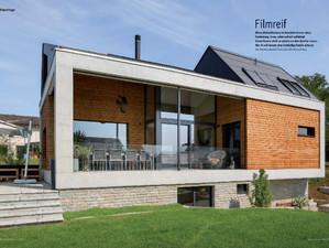 """Reportage über unser Projekt im grössten schweizer Architektur-Magazin """"Das Einfamilienhaus&quo"""