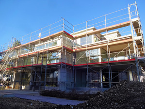 Baufortschritt Mehrfamilienhaus Brunngasse in Reinach