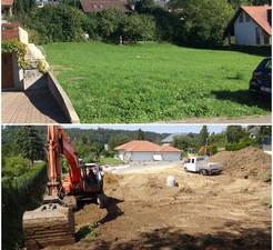 Baustart Einfamilienhaus in Hochwald