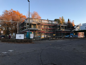Baufortschritte Mehrfamilienhaus in Bottmingen.