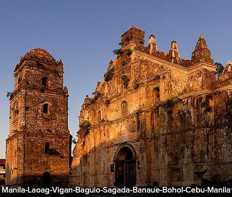 Manila-Laoag-Vigan-Baguio-Sagada-Banaue-