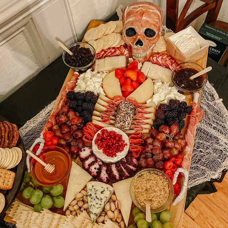Halloween: Skeleton Charcuterie Board How To Class