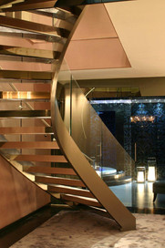 Helical stair - Brush finish