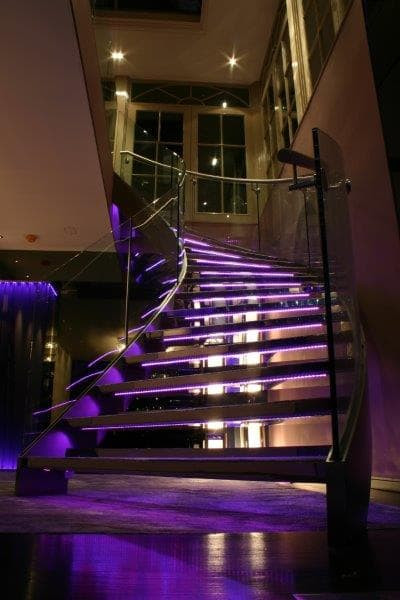 Bespoke Illuminated Helical Staircase