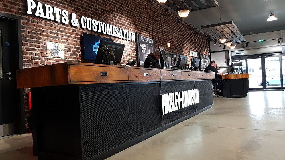 Harley Davidson Bespoke Reception Desk