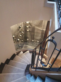 Clasical balustrade and wine display