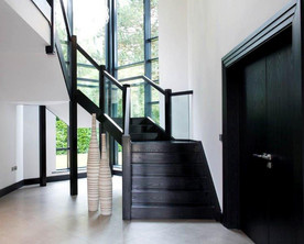 Dark timber stair
