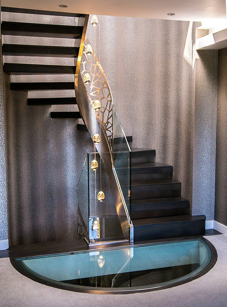Bespoke Winder Staircase & Glass Floor