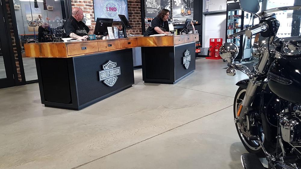 Harley Davidson Bespoke Customer Service Desk