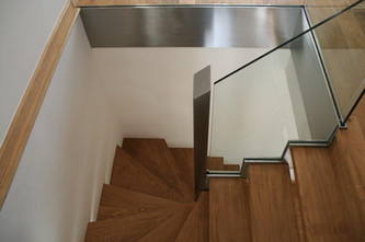 Timber stair with winder