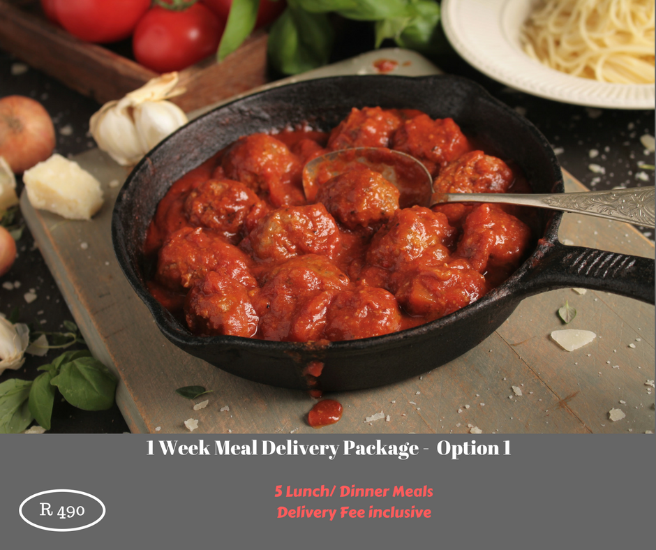 1 Week Meal Delivery Package - Option 1