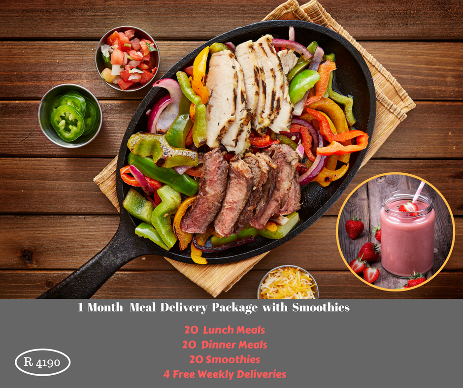 1 Month Meal Delivery Package with Smoothies
