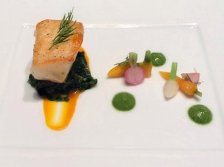 Pan Seared Sea Bass with Carrot Butter